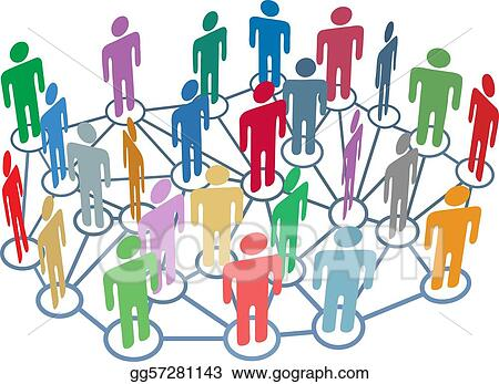 Many people group talk network social media