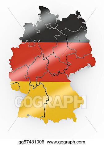 stock illustration map of germany in german flag colors stock art illustrations gg57481006. Black Bedroom Furniture Sets. Home Design Ideas