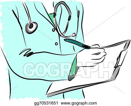 Vector Stock - Medical service nurse doctor illust. Stock Clip Art ...
