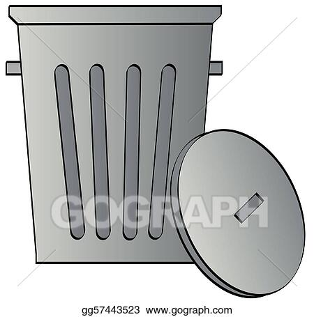 metal galvanized garbage can with lid