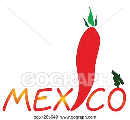 mexican chili pepper vector illustr