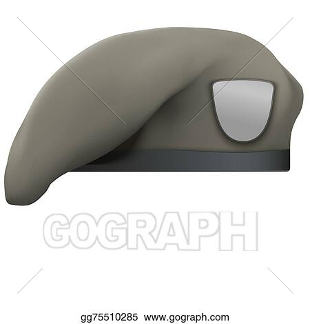 Stock Illustration - Military tan beret army special ...