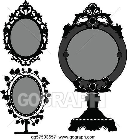 Mirror Ornate Old Vintage Princess
