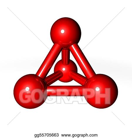 Molecule Structure Red