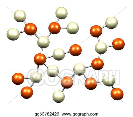 Stock illustration atomic science molecules isolated on a white