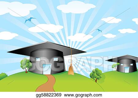 Mortar Board Shape School