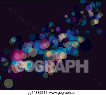Multi color bokeh lights background