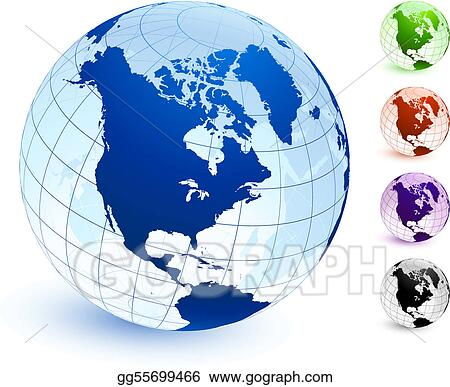 Multi Colored Globe set