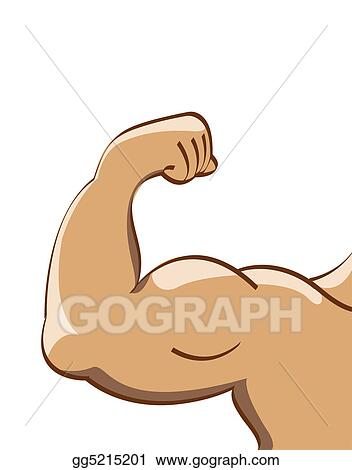 Drawing - Muscle man. Clipart Drawing gg5215201 - GoGraph