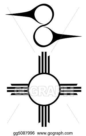 Clip Art - Native american symbols. Stock Illustration gg5087996 ...