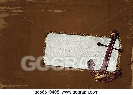 Nautical frame with anchor