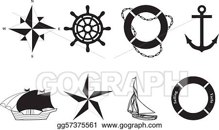 Nautical vector symbols - vector