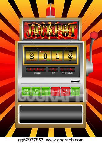 Stock Illustration - New year 2013 in slot machine vector illustration