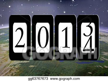 New year 2014 odometer