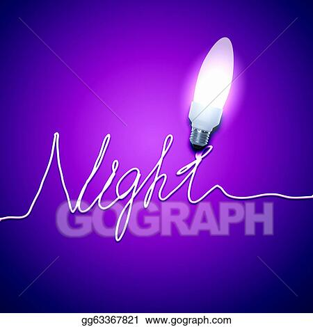 clip art night light bulb stock illustration gg63367821 gograph. Black Bedroom Furniture Sets. Home Design Ideas