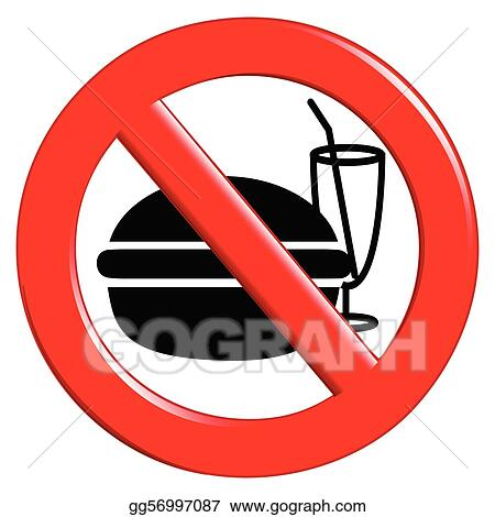 No eating and drinking sign
