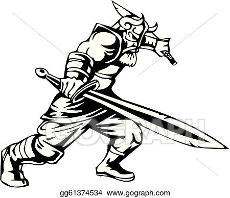 Vector Stock - Nordic viking - vector illustration. vinyl-ready ...