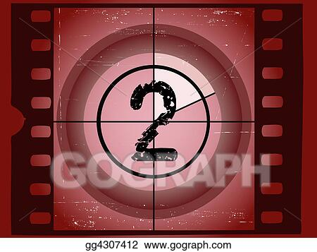 Old Red Scratched Film Countdown - At 2