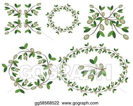 Olive branches decor.