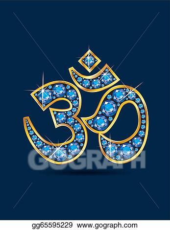 Stock Illustration Om Symbol In Gold With Aquamarine