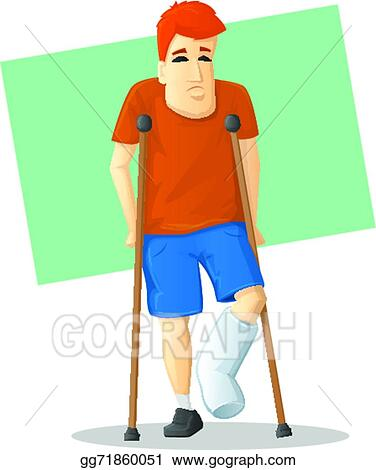 Broken Foot Clip Art - Royalty Free - GoGraph