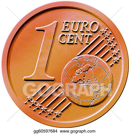 Clip Art Coin Clip Art stock illustration one 1 cent euro coin clipart illustrations of an isolated on a white background gg60597684