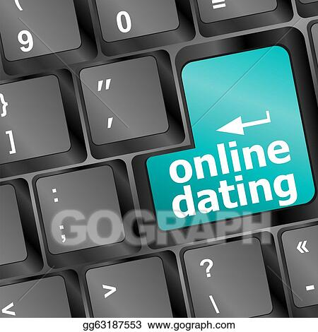 Stock Illustration - Online dating button on computer keyboard showing ...