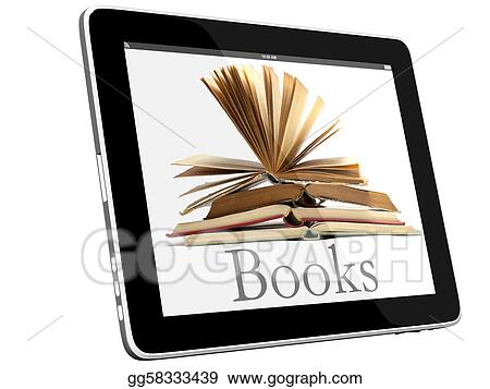 Open Books on iPad 3D concept