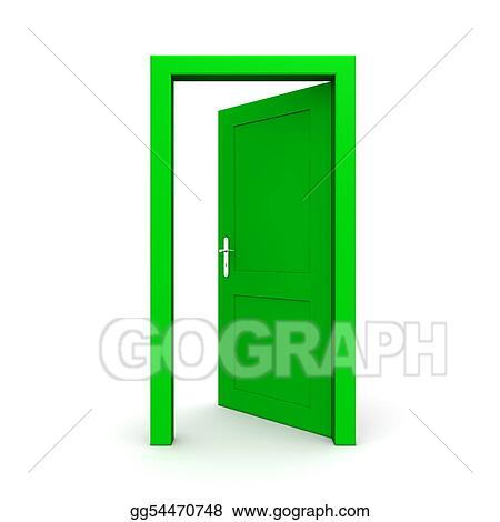Open And Closed Door Clipart