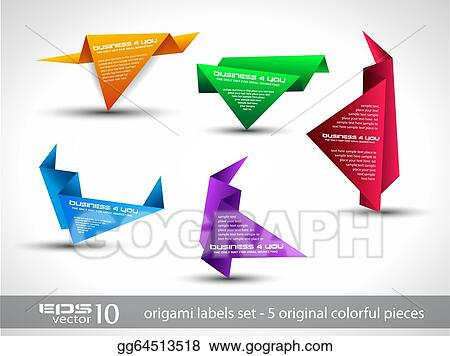 Origami triangle style speech Banner .