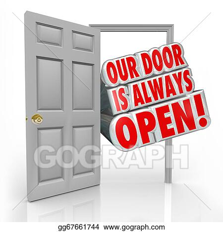 Open Door Welcome Clipart open door welcome clipart is always words coming out an to invite