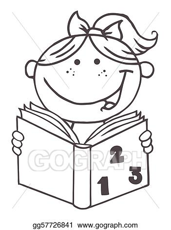 Clipart Kids Reading Black And Two Children Reading Clipart Black And White