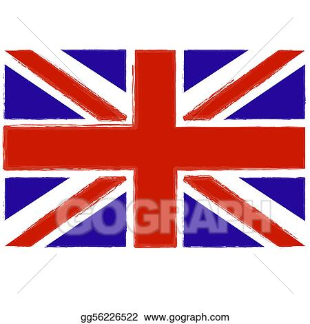 Drawing - Painted british flag. Clipart Drawing gg56226522 - GoGraph