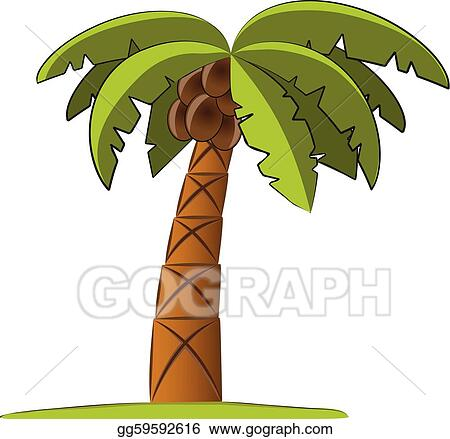 Vector Illustration - Palm tree vector illustration. EPS Clipart ...