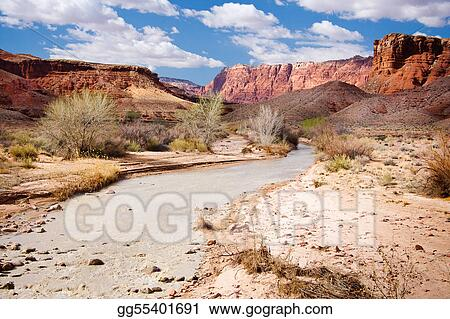 Paria River and Vermillion Cliffs in Arizona