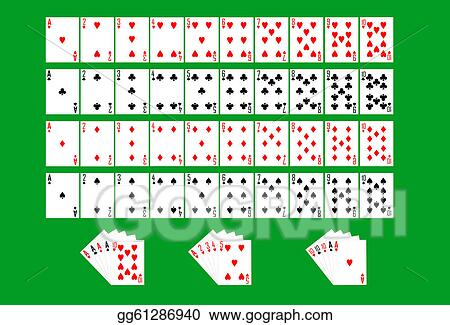 Vector Illustration - Partial deck of playing cards. Stock Clip ...