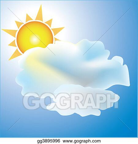Partly cloudy with sun weather icon