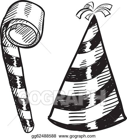 Party Hat Clip Art - Royalty Free - GoGraph