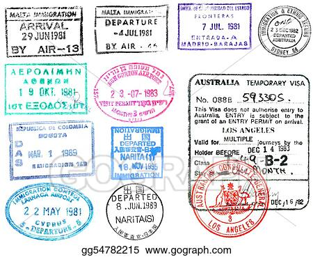 Stock Illustration - Passport stamps and visa's. Clipart ...