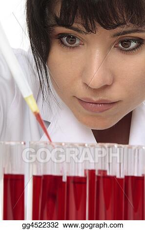 Pathologist takes sample for testing