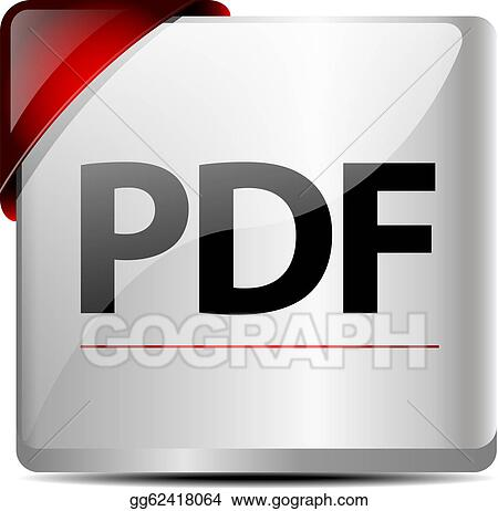 Vector Clipart - Pdf download button/icon . Vector Illustration ...