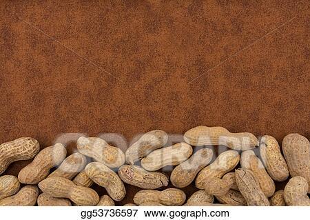 Pictures - Peanut border. Stock Photo gg53736597 - GoGraph