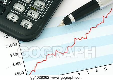 Pen and Calculator on Positive Earning Graph