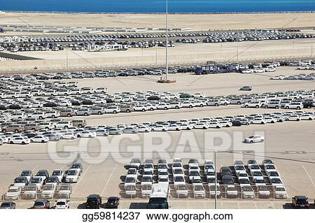PERSIAN GULF - APRIL 15: Cars in Abu Dhabi Port, 15 April 2010. People here don't use public transport very much and prefers personal cars.
