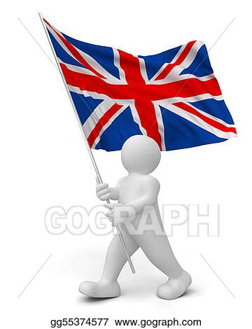 Person with England flag