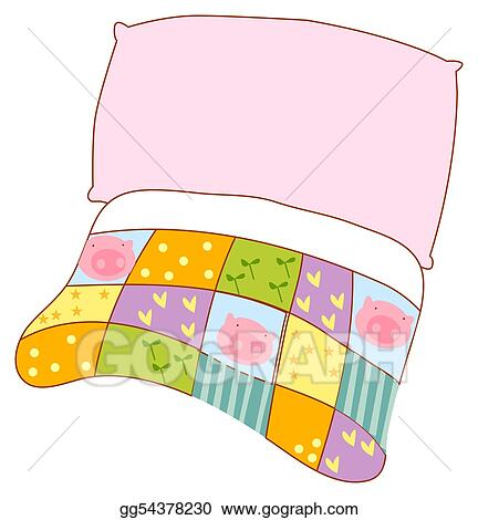 Clipart - Pillow and quilt. Stock Illustration gg54378230 ...