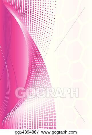 Pink Abstract Wave