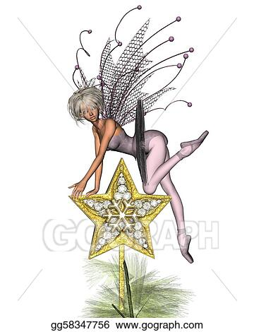 Stock Illustration - Pink christmas tree fairy - 3. Clipart ...