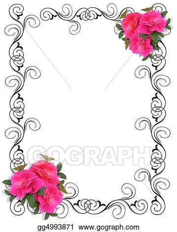 Decorative Pink Border Clip Art Pink Roses Border ornamental