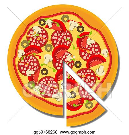 Pizza. vector illustration
